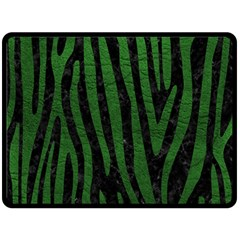 Skin4 Black Marble & Green Leather (r) Double Sided Fleece Blanket (large)