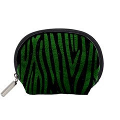 Skin4 Black Marble & Green Leather (r) Accessory Pouches (small)