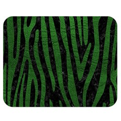 Skin4 Black Marble & Green Leather (r) Double Sided Flano Blanket (medium)