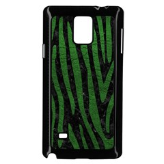 Skin4 Black Marble & Green Leather (r) Samsung Galaxy Note 4 Case (black)
