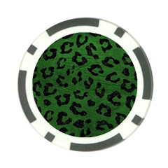Skin5 Black Marble & Green Leather Poker Chip Card Guard
