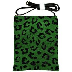 Skin5 Black Marble & Green Leather Shoulder Sling Bags