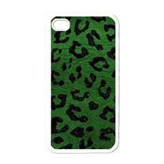 Skin5 Black Marble & Green Leather Apple Iphone 4 Case (white)