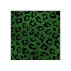 Skin5 Black Marble & Green Leather Acrylic Tangram Puzzle (4  X 4 )