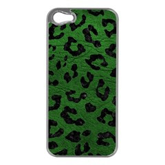 Skin5 Black Marble & Green Leather Apple Iphone 5 Case (silver)