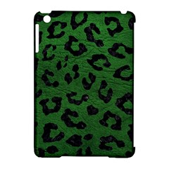 Skin5 Black Marble & Green Leather Apple Ipad Mini Hardshell Case (compatible With Smart Cover)