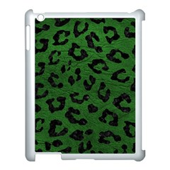 Skin5 Black Marble & Green Leather Apple Ipad 3/4 Case (white)