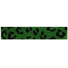 Skin5 Black Marble & Green Leather Flano Scarf (large)