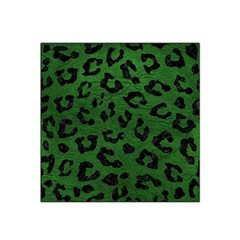 Skin5 Black Marble & Green Leather Satin Bandana Scarf