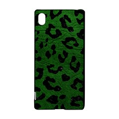 Skin5 Black Marble & Green Leather Sony Xperia Z3+