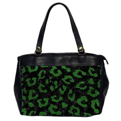Skin5 Black Marble & Green Leather (r) Office Handbags (2 Sides)