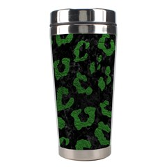 Skin5 Black Marble & Green Leather (r) Stainless Steel Travel Tumblers