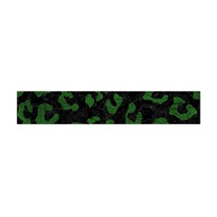 Skin5 Black Marble & Green Leather (r) Flano Scarf (mini)