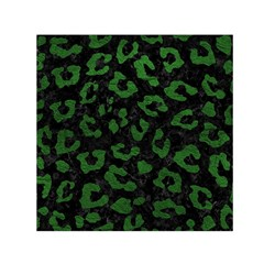 Skin5 Black Marble & Green Leather (r) Small Satin Scarf (square)
