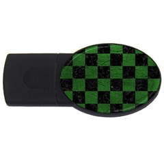 Square1 Black Marble & Green Leather Usb Flash Drive Oval (2 Gb)