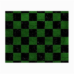 Square1 Black Marble & Green Leather Small Glasses Cloth