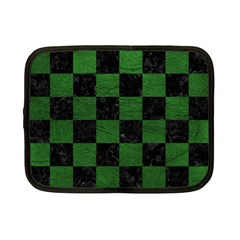Square1 Black Marble & Green Leather Netbook Case (small)