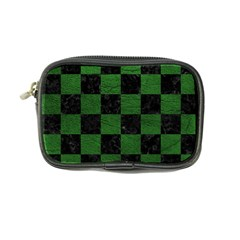 Square1 Black Marble & Green Leather Coin Purse