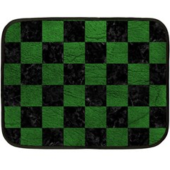 Square1 Black Marble & Green Leather Double Sided Fleece Blanket (mini)