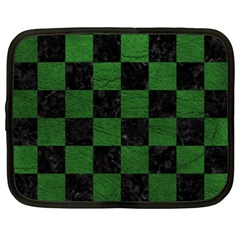 Square1 Black Marble & Green Leather Netbook Case (xxl)