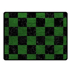 Square1 Black Marble & Green Leather Fleece Blanket (small)