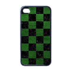 Square1 Black Marble & Green Leather Apple Iphone 4 Case (black)