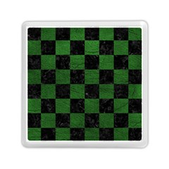 Square1 Black Marble & Green Leather Memory Card Reader (square)