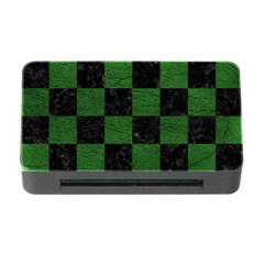 Square1 Black Marble & Green Leather Memory Card Reader With Cf
