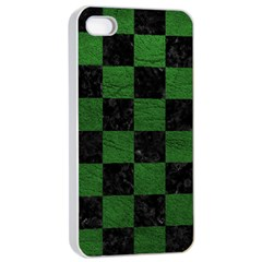 Square1 Black Marble & Green Leather Apple Iphone 4/4s Seamless Case (white)