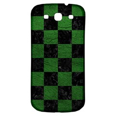 Square1 Black Marble & Green Leather Samsung Galaxy S3 S Iii Classic Hardshell Back Case