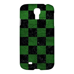 Square1 Black Marble & Green Leather Samsung Galaxy S4 I9500/i9505 Hardshell Case