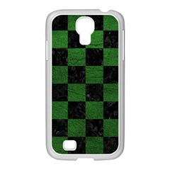 Square1 Black Marble & Green Leather Samsung Galaxy S4 I9500/ I9505 Case (white)