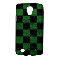 Square1 Black Marble & Green Leather Galaxy S4 Active