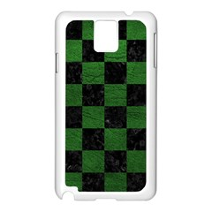 Square1 Black Marble & Green Leather Samsung Galaxy Note 3 N9005 Case (white)
