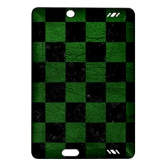 Square1 Black Marble & Green Leather Amazon Kindle Fire Hd (2013) Hardshell Case