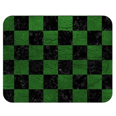 Square1 Black Marble & Green Leather Double Sided Flano Blanket (medium)
