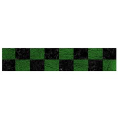 Square1 Black Marble & Green Leather Flano Scarf (small)