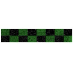 Square1 Black Marble & Green Leather Flano Scarf (large)