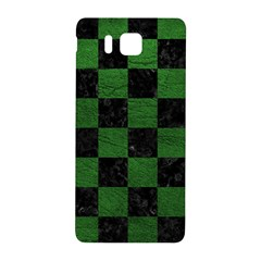 Square1 Black Marble & Green Leather Samsung Galaxy Alpha Hardshell Back Case