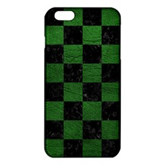 Square1 Black Marble & Green Leather Iphone 6 Plus/6s Plus Tpu Case