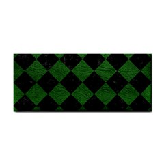 Square2 Black Marble & Green Leather Cosmetic Storage Cases