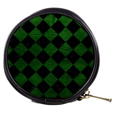 Square2 Black Marble & Green Leather Mini Makeup Bags
