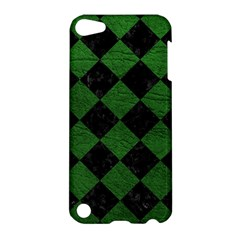 Square2 Black Marble & Green Leather Apple Ipod Touch 5 Hardshell Case