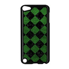 Square2 Black Marble & Green Leather Apple Ipod Touch 5 Case (black)