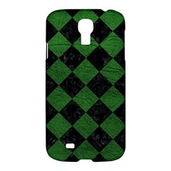 Square2 Black Marble & Green Leather Samsung Galaxy S4 I9500/i9505 Hardshell Case