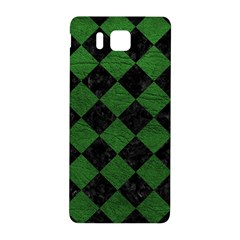 Square2 Black Marble & Green Leather Samsung Galaxy Alpha Hardshell Back Case
