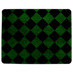 Square2 Black Marble & Green Leather Jigsaw Puzzle Photo Stand (rectangular)