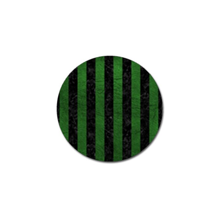 STRIPES1 BLACK MARBLE & GREEN LEATHER Golf Ball Marker (4 pack)