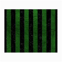 Stripes1 Black Marble & Green Leather Small Glasses Cloth
