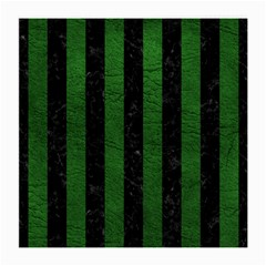 Stripes1 Black Marble & Green Leather Medium Glasses Cloth (2 Side)